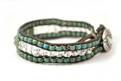Quartz Spike Cuff Bracelet