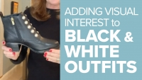Adding Visual Interest to Your Black and White Outfits